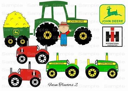 Tractor John Clipart Deere Cartoon Farm Johnny