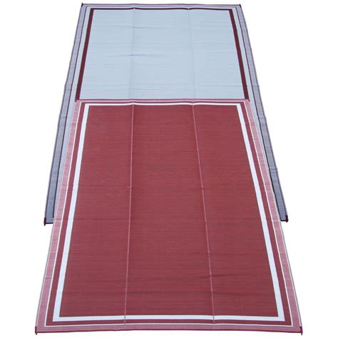 fireside patio mats cranberry 9 ft x 12 ft polypropylene indoor outdoor reversible