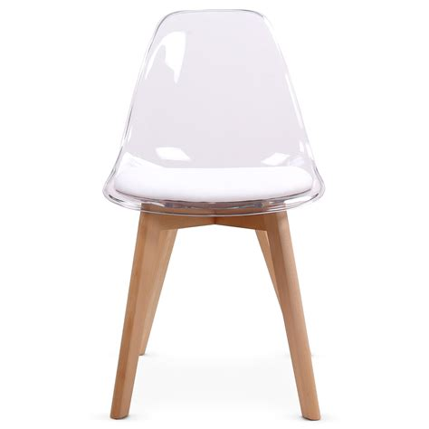 chaise blanche bois chaise design blanche plexi et bois chaise et tabouret chaise
