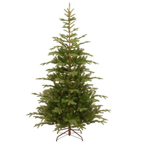 national tree company 7 1 2 ft feel spruce hinged artificial tree