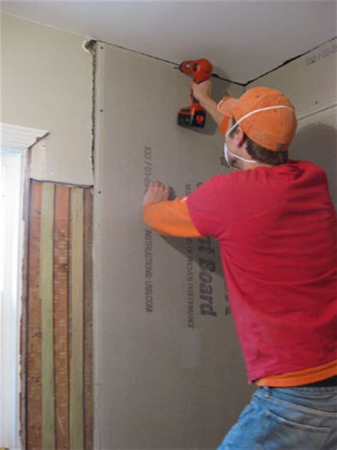 hanging cement board drywall fixing  subfloor