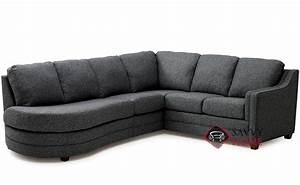 Corissa fabric chaise sectional by palliser is fully for Sectional sofa with angled chaise