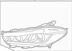 Jaguar Xe Headlamp  Headlamp Assy  Halogen