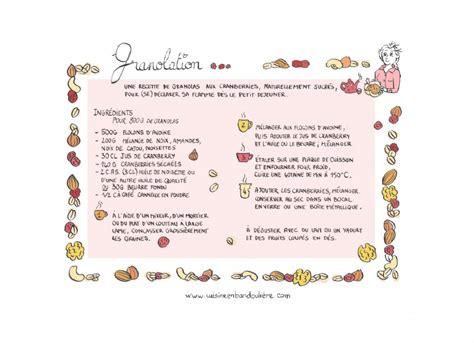 dessin recette de cuisine recette de granola à croquer cuisine en bandoulière