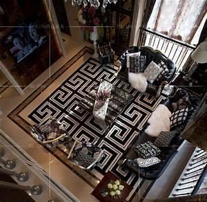 Tapete Living : black and white carpet mats for rugs home living room ~ Yasmunasinghe.com Haus und Dekorationen