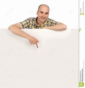 Man Holding Blank Poster Royalty Free Stock Image - Image ...
