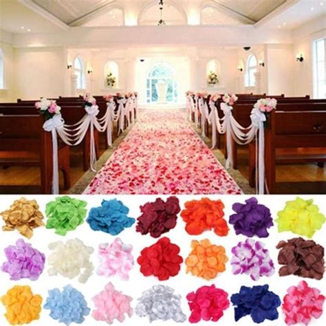 1000 Silk Rose Petals Wedding Party Decorations Aisle