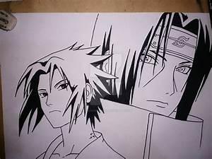 Sasuke And Itachi From Naruto ( Sketch ) by kingjackson116 ...