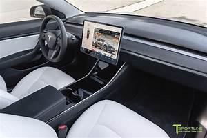 Tesla Model 3/Y Premium White Interior with Matte Carbon Fiber Dash Pa - T Sportline - Tesla ...