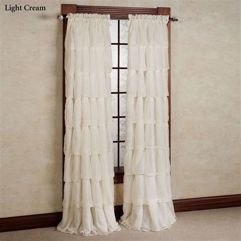 Ruffle Blackout Curtain Panels by Sheer Voile Ruffled Curtain Panels Polyvore