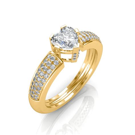 0 68 carat 18k yellow gold engagement ring engagement rings at best prices in