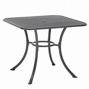 Kettler 32 Inch Square Wrought Iron Patio Dining Table