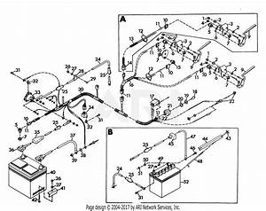 Gravely 41904 2 Wheel Tractor  8hp  4 Sp Electric Start With Steering Brake Parts Diagram For