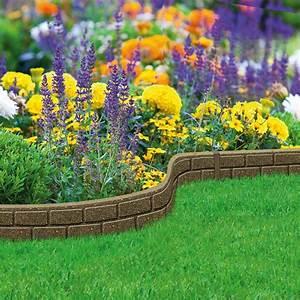 Garden, Lawn, Edging, Flexible, Flower, Bed, Border, Wall, Eco, Recycled, Rubber, U0026, 39, Ez, U0026, 39, New