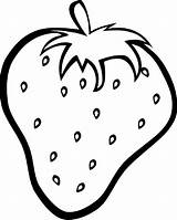 Fruit Coloring Strawberry Drawing Outline Clipart Fruits Printable Strawberries Orange Cherry Apple Colouring Sheets Sheet Printables Drawings Banana Templates Para sketch template
