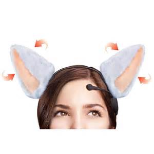 cat ears that move the brain wave animated cat ears hammacher schlemmer
