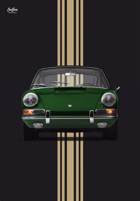 porsche  early  irish green poster vertical car