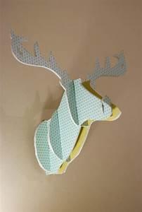 Tete De Cerf En Carton : diy fun cardboard deer head comment cr er une t te de cerf en carton noces de coton ~ Teatrodelosmanantiales.com Idées de Décoration