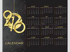 Creative Calendar 2016 vector design template on dark