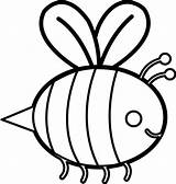 Bee Stencil Coloring Bumble Honey Template Ingrahamrobotics Clipart sketch template