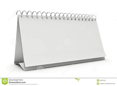 free standing desk calendar blank standing desk calenda stock images image 25631994
