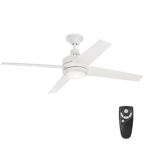 52 white ceiling fan with remote control home decorators collection mercer 52 in integrated led