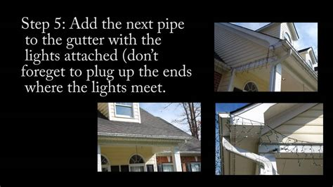 how to hang icicle lights to your gutter