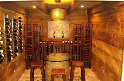 DIY Barn Style Barn Wood   Farmhouse   Wine Cellar