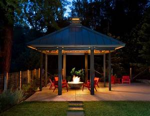 Covered fire pit ideas patio transitional with sitting