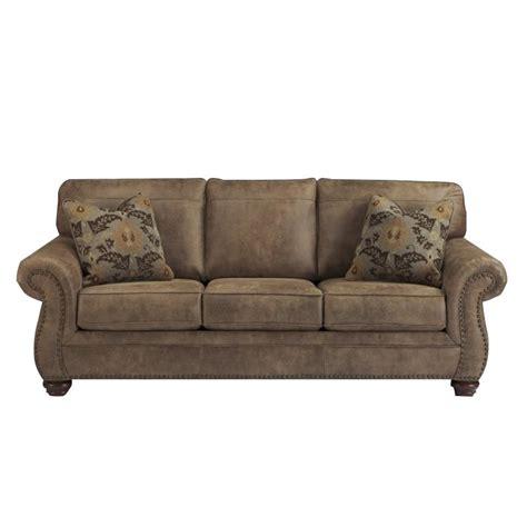 leather sleeper sofa queen ashley larkinhurst faux leather queen size sleeper sofa in