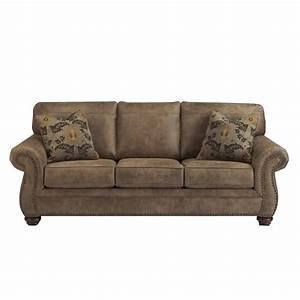 ashley larkinhurst faux leather queen size sleeper sofa in With leather queen size sofa bed