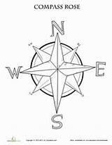 Compass Rose Coloring Map Worksheet Maps Printable Grade Pages Worksheets Activities Education Pirate 3rd Skills Learning Adult Teaching Lesson Template sketch template