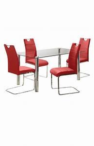 Dessus De Table En Verre : ensemble de cuisine rouge avec dessus de table en verre ~ Dode.kayakingforconservation.com Idées de Décoration
