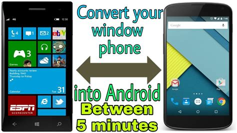 convert windows phone into android in between 5 minutes how to install android os in windows