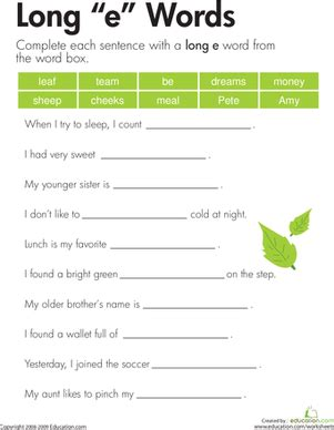 Long I Sound Worksheet Education