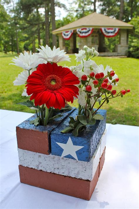 patriotic brick centerpiece fun family crafts