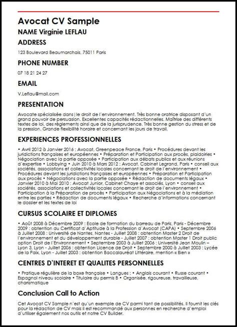 Redaction Cv by Modele De Cv Avocat Moncvparfait