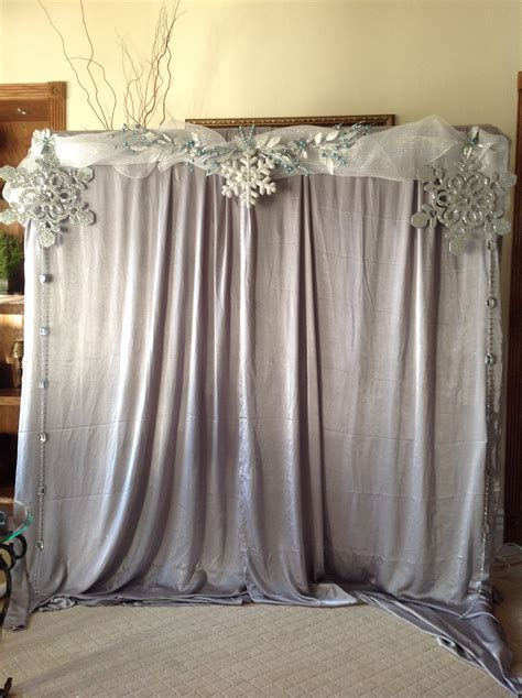 Diy Theme Backdrop by Beautiful Winter Onederland Birthday