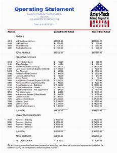 Condo Budget Template Lovely 23 Of Hoa Statement Template