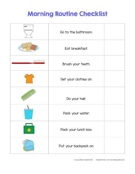 1000 ideas about morning checklist on 832 | b53eee95d16720417b3539b57c124fab