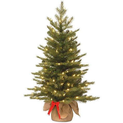 ge nordic spruce christmas tree national tree company 3 ft nordic spruce artificial tree with battery operated warm