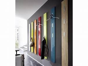 Porte Manteau Mural Design : porte manteau mural en bois 3 accroches rabattables h170cm ~ Teatrodelosmanantiales.com Idées de Décoration