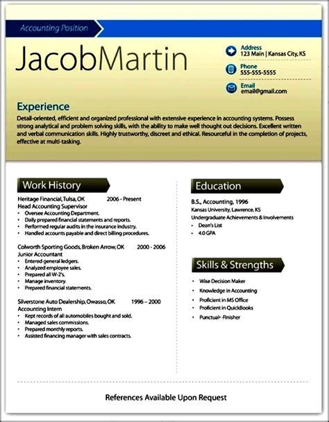 Modern Resume Format Doc modern resume template doc free sles exles