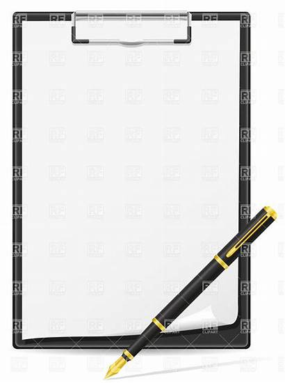 Pen Paper Clipart Sheet Clipboard Clip Writing