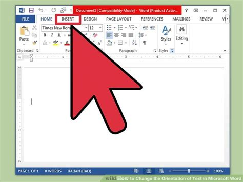 ways  change  orientation  text  microsoft word