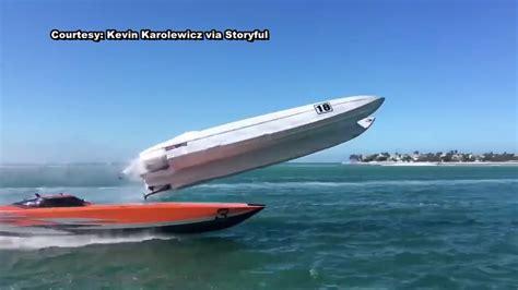 Boat Crash Florida Keys by Dramatic Video Shows Super Boat Crash At Key West World