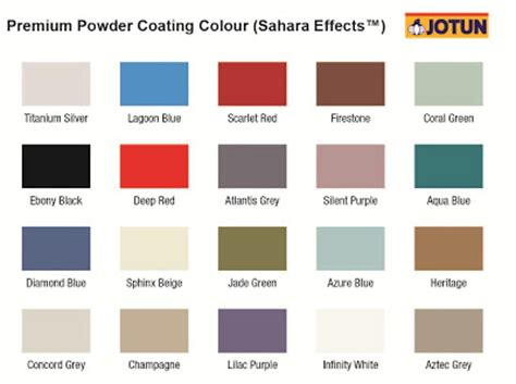 space products sdn bhd sp ace colour chart premium colour effects series
