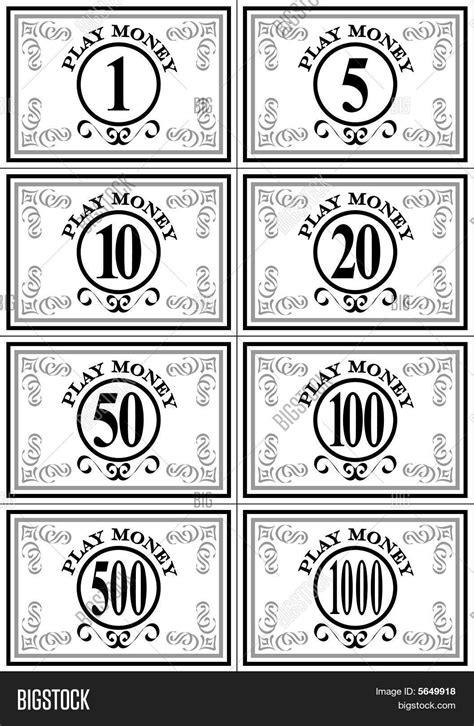 printable play money black  white printable  degree