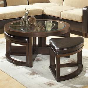 Homelegance 3219PU 01 Brussel Round Cocktail Table With