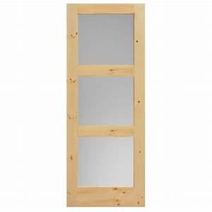 Masonite 36 in x 84 in primed 1 lite solid wood interior for 40 inch interior barn door